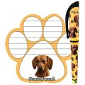 Dog Breed Magnetic Note Pad And Pen Set