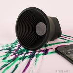 Wow Speaker delivers rich audio without taking up too much space