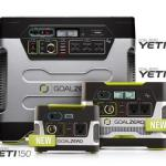 Goal Zero Yeti 150 and Yeti 400 Solar Generators ensures you have juice at all times