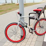 Foldylock keeps an eye on your bike when you're away