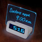 Written Reminder Alarm Clock ensures your poor memory is no longer an excuse