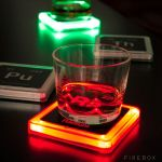 Radioactive Elements Glowing Coasters add a dash of style to your home