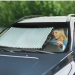 Custom Retractable Windshield Shades helps your ride remain cool