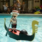 Singing Gondolier adds a dash of charm to your pool