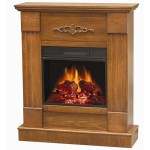 The Comfort Glow Compact Electric Fireplace adds style and warmth to your home