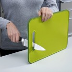 The Joseph Joseph Cutting Board has a built-in knife sharpener