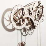 Wooden Mechanical Clock Kit tells the time in classical style