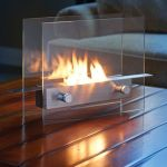 Tabletop Fireplace keeps you warm at night