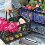 The Clever Crate – a folding basket makes grocery trips easier