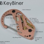 The KeyBiner improved on the time tested Carabiner clip