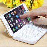 The iPhone 6 Plus Bluetooth Keyboard makes quick work of texts and emails