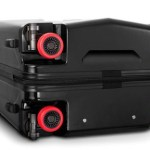 The Stealth Suitcase has retractable wheels for the avid traveler