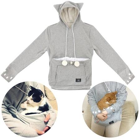The Mewgaroo hoodie is for