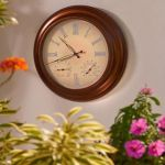 24″ Outdoor Lighted Atomic Clock keeps track of the time religiously