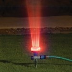 Water And Light Show Sprinkler adds character to any garden