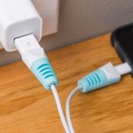 The Tudia Cable Protector adds a splash of color to your charger