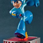 Capcom Running Mega Man Statue ain't no Running Man