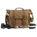 The Evecase Canvas DSLR Messenger Bag changes to fit your needs