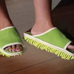 These Microfiber Dusting Slippers clean while you walk