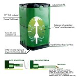 The Exaco Aerobin is an outdoor composter that keeps the stench outside