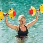 Adjustable Aquaweights makes exercise fun again