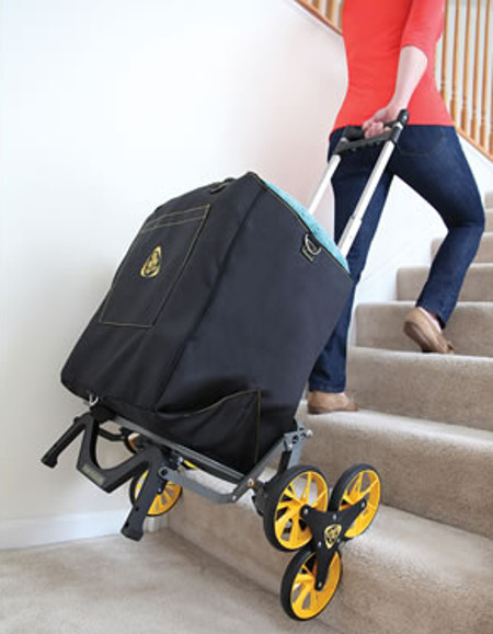 Stair Stepping Smarter Cart Eases Lugging Heavy Stuff Up
