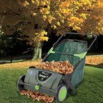 Leaf Collecting Lawn Sweeper makes chores a whole lot easier