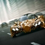 Fast concept car is very flaky
