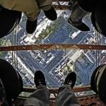 Glass-Bottom Hot Air Balloon ride lets you walk on air