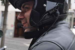 With the optional helmet mounted headset, handsfree communication is safe and secure.
