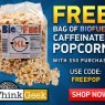 Free Caffeinated Popcorn from Think Geek