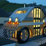 Car-shaped house is unusual, but quite energy-efficient