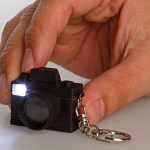 Keychain Retro LED Camera with sound