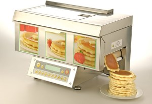 The ChefStack can make hundreds of pancakes automatically.