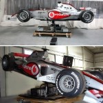 F1Showcar Motion Simulator uses Real Race Car
