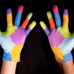 Multi-colored gloves for gesture-based computing
