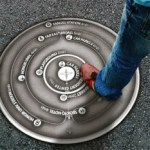 Map Hole: A manhole cover that gives directions