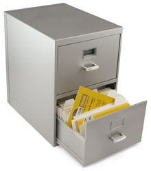 Business card filing cabinet