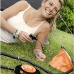 Orange Foot Pump can Charge a Cell Phone