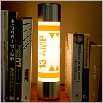 Fuse Lamp between books