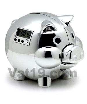 Chrome Pig E Bank