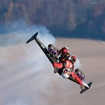 Jetman Yves Rossy does a loop