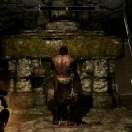 The Elder Scrolls V: Skyrim, played with a Kinect