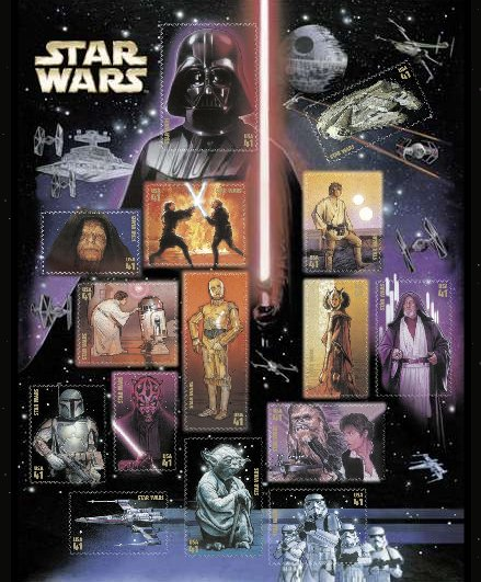 Star Wars Postal Stamps