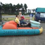 Human-powered Hovercraft goes across water