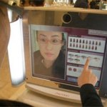Japanese customers' augmented reality mirror to see what makeup looks like without trying it on