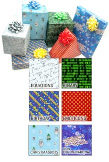 geeky wrapping paper