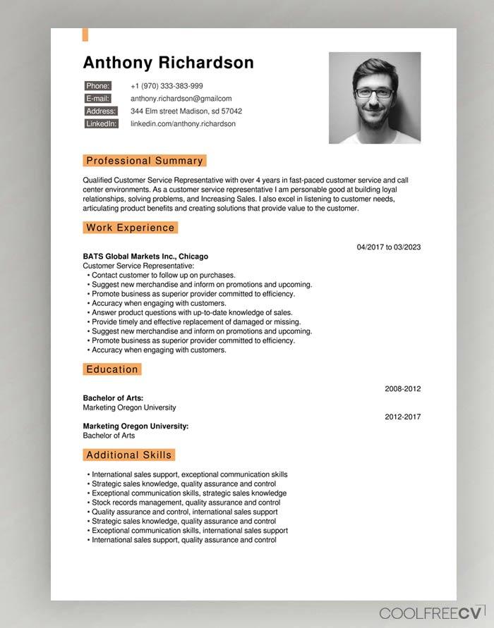 CV Builder Online Creator Resume Free