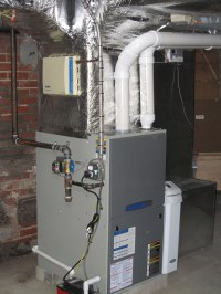 Gas Furnace with Air Cleaner and Humidifier | Cooling ...