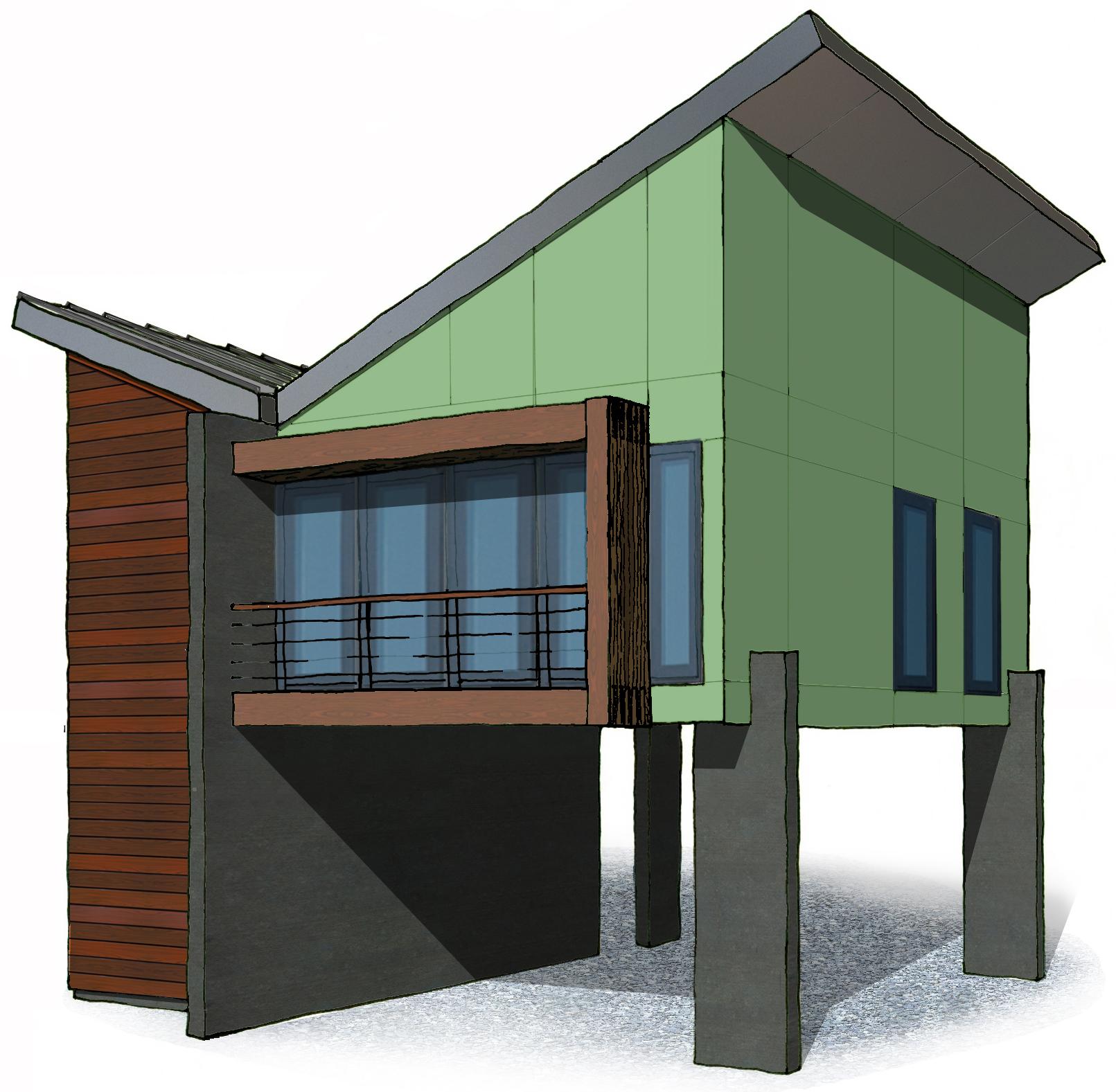 European style mdoern house home plan